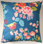 "16"" Dusky Blue Bird Cushion Cover"